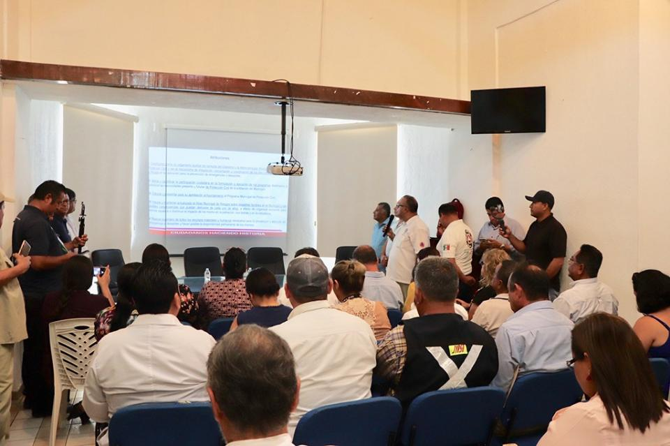 Consejo Delegacional de Protección Civil en Sesión permanente para la Temporada de Lluvias y Ciclones Tropicales 2019