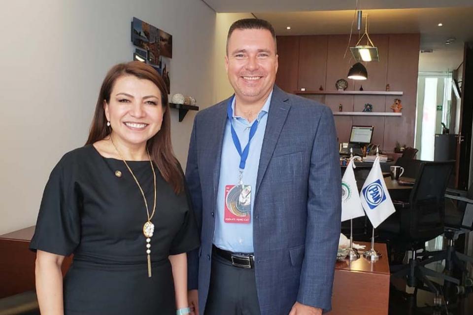 Se reunió el Dip. José Luis Perpuli con la senadora Lupita Saldaña