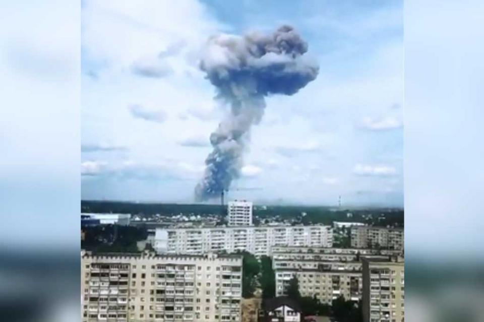 Aumentan a 116 los heridos por explosiones en fábrica militar de Rusia