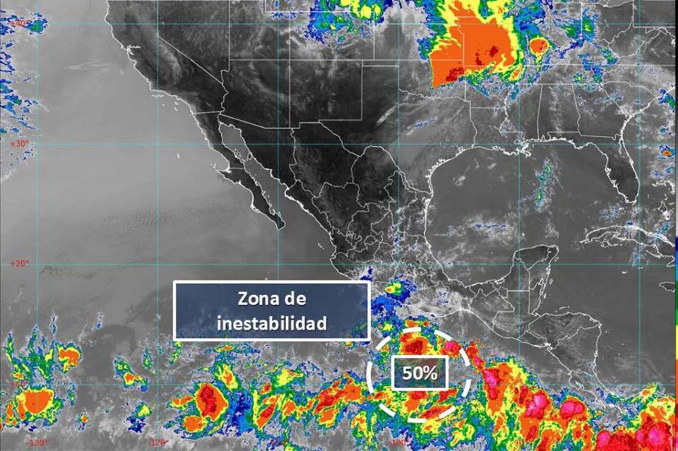 Zona de inestabilidad incrementa a 50% su probabilidad de desarrollo ciclónico