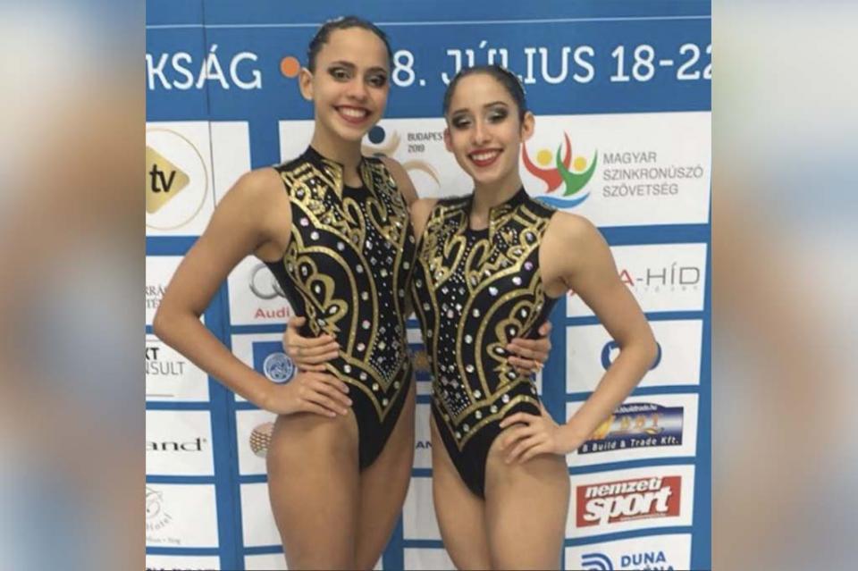 Daniela Flores y Alexa Martínez en la selección nacional de nado