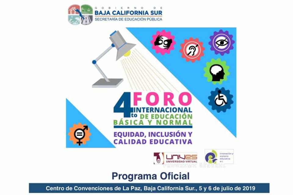 Inicia con conferencias magistrales IV Foro Internacional Educativo en BCS