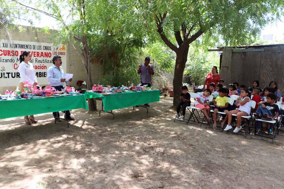 Gobierno Municipal realiza Primer Curso Infantil con material reutilizable en CSL