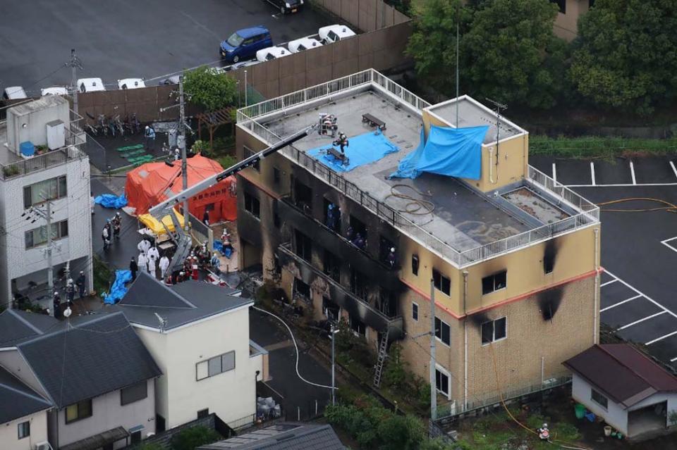 Un incendio intencionado causa 33 muertos en un estudio de animación japonés
