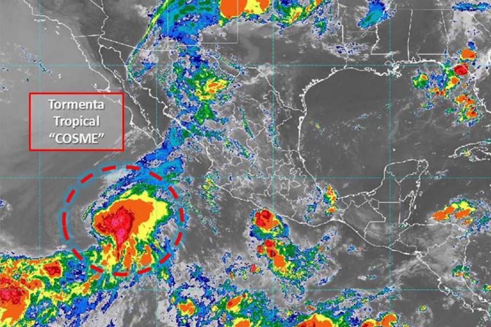 Se forma tormenta tropical Cosme en el Pacífico, sin peligro para México