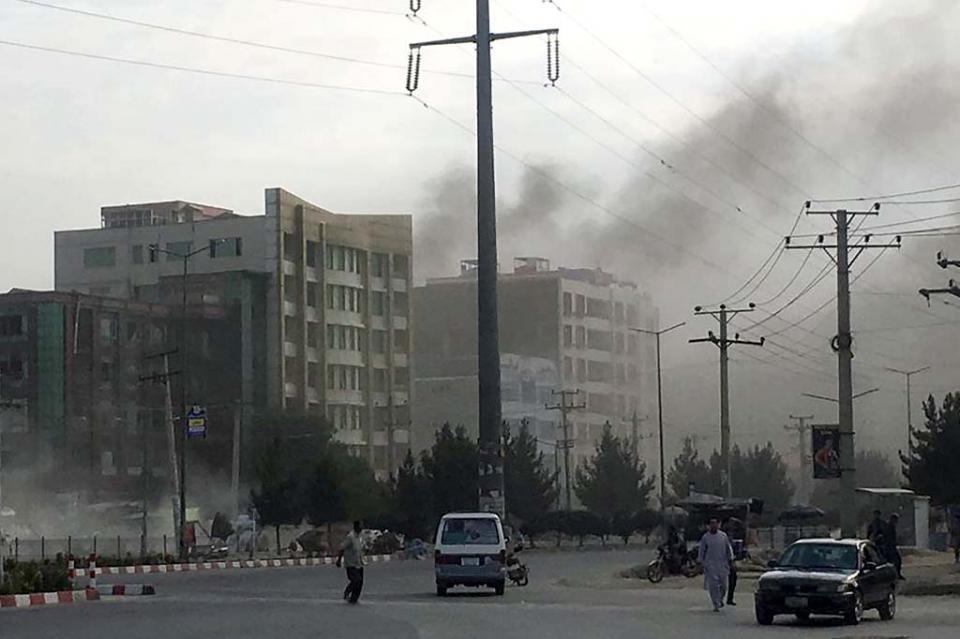 Ataque a oficina de candidato a vicepresidente afgano deja 20 muertos