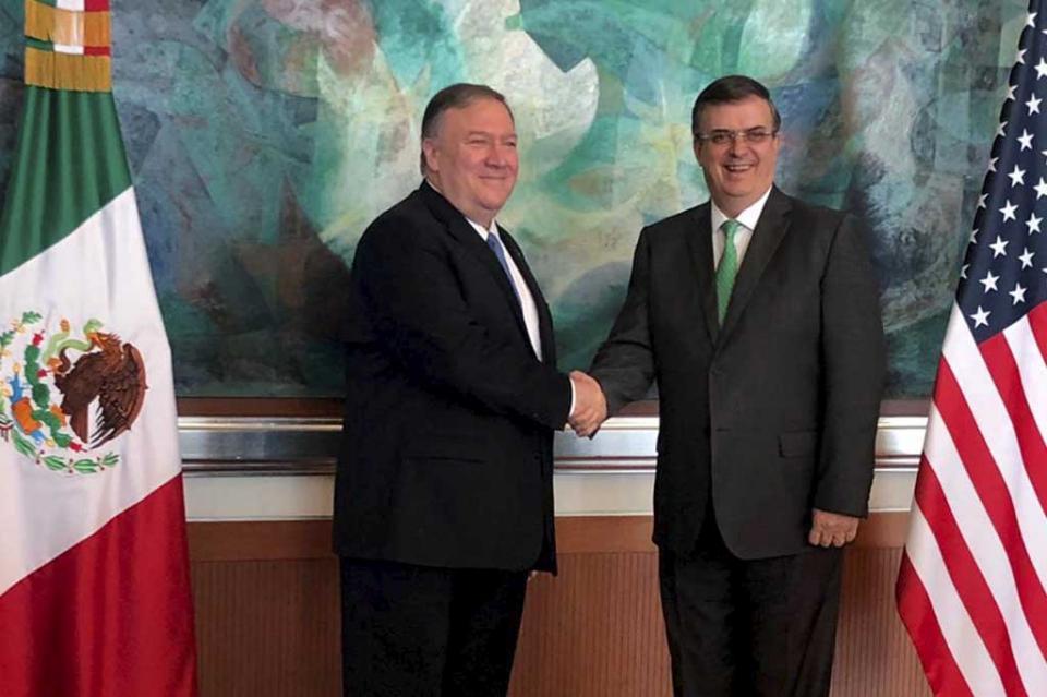 Pompeo resalta avances de México en materia migratoria