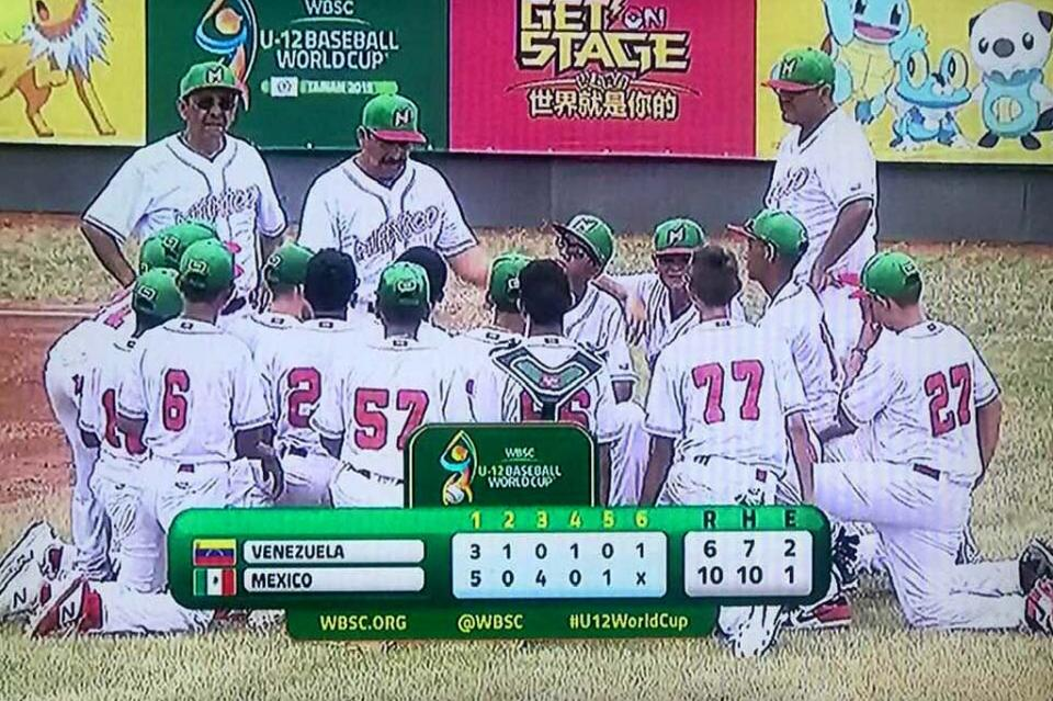 México le gana a Venezuela en Mundial de Béisbol U12