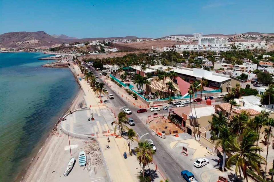 Malecón de La Paz presenta un avance del 68 por ciento