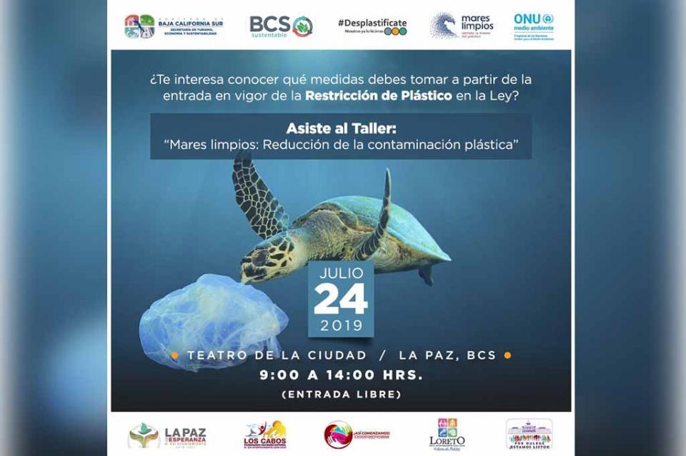 """Invita SETUES a taller """"Mares Limpios: reducción de la contaminación plástica"""""""