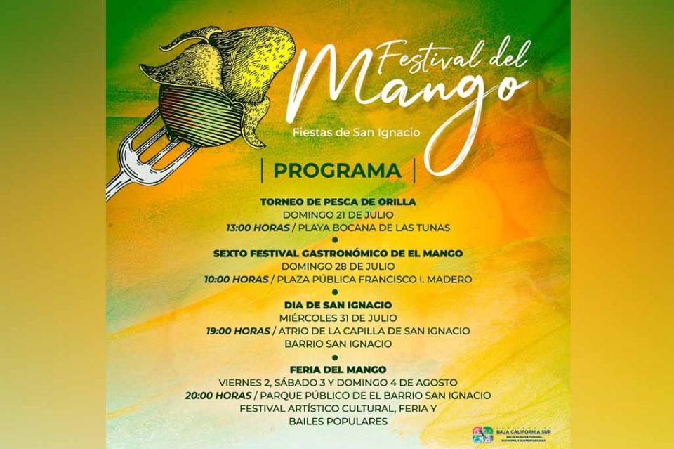 Invita SETUES a Festival del Mango en Todos Santos