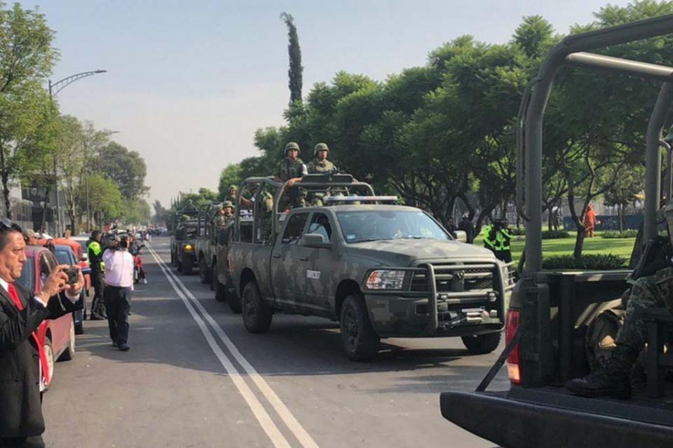 Se registra momento de tensión al llegar el Ejército al Centro de Mando