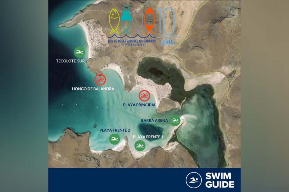 Advierten observadores ciudadanos niveles de contaminación no aptos para uso recreativo en Balandra