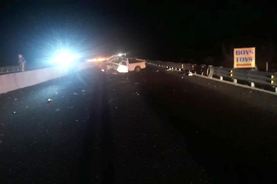 Choque en carretera Todos Santos-Cabo San Lucas deja un lesionado
