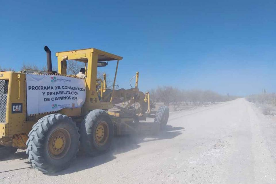 Programa estatal de conservación y rehabilitación de caminos tiene cobertura en todo el estado