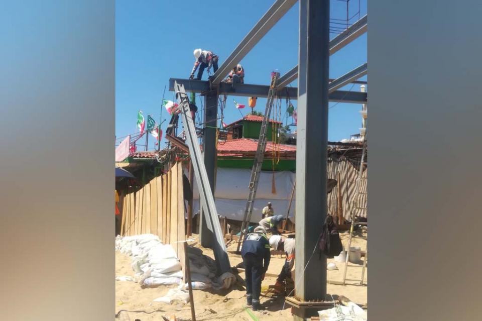 Suspende Protección Civil obra en restaurante de El Médano tras accidente que dejó tres heridos