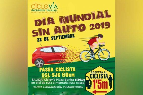 """Los Cabos participará en el """"Día Mundial Sin Auto 2019"""" con paseo ciclista"""