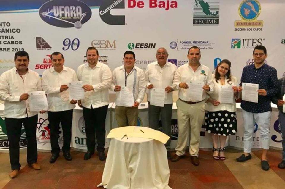 Firman convenio de colaboración ITES Los Cabos y Federación de Colegio de Ingenieros Mecánicos Industriales Electrónicos