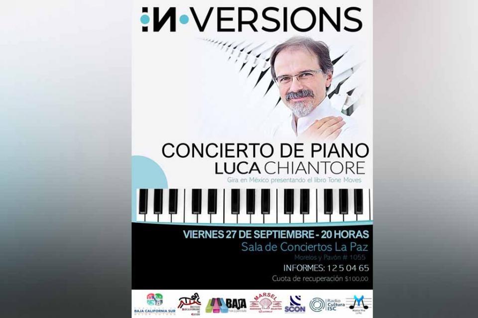 Se presentará el pianista italiano Luca Chiantore en la Sala de Conciertos La Paz