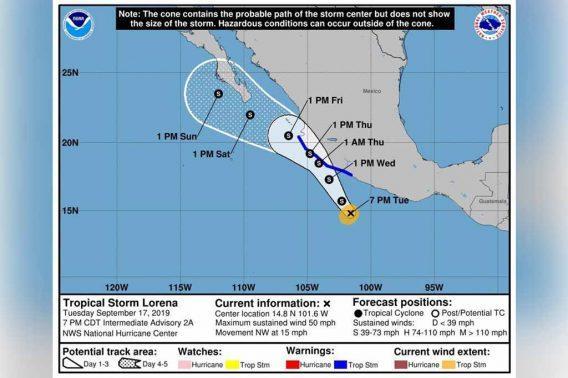 Alerta Capitanía de Puerto ante el avance de tormenta tropical 'Lorena'