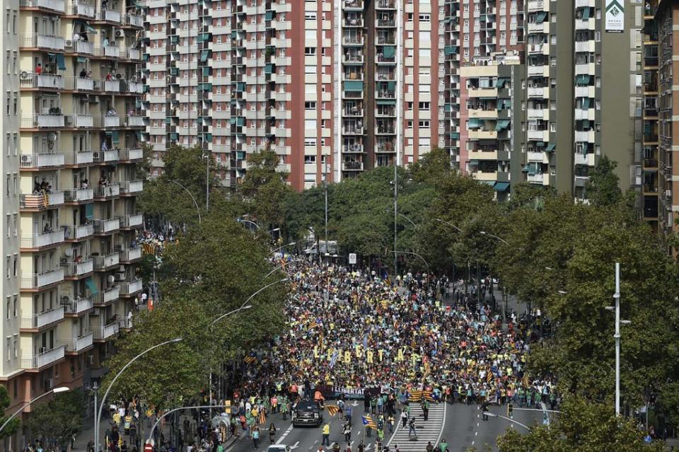 Huelga general paraliza Cataluña en medio de protesta independentista