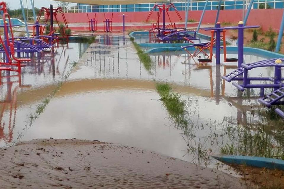 Lluvias dejan daños en espacios deportivos cabeños