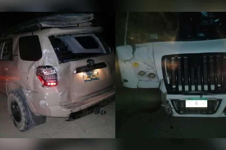Accidente entre camión de carga y automóvil en la comunidad de Zacatitos