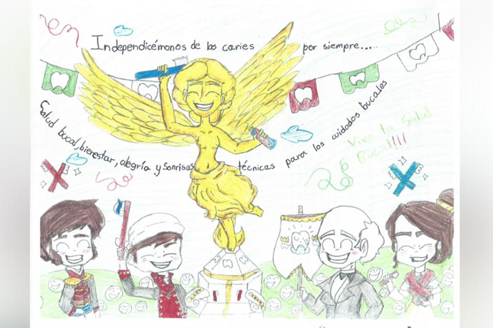 Sudcaliforniana gana Concurso Infantil de Salud Bucal