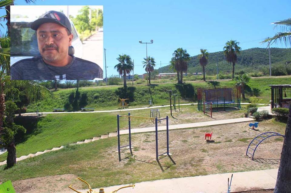 Reporta vecino de Colinas de San José descuido total de Parque Hundido