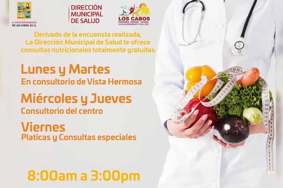 Ofrece Gobierno Municipal Consultas Nutricionales Gratuitas