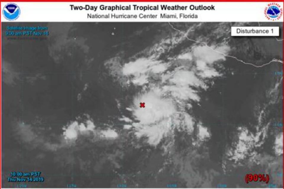 Alerta Capitania de Puerto por baja presión, tiene altas posibilidades de desarrollo ciclónico en las próximas horas