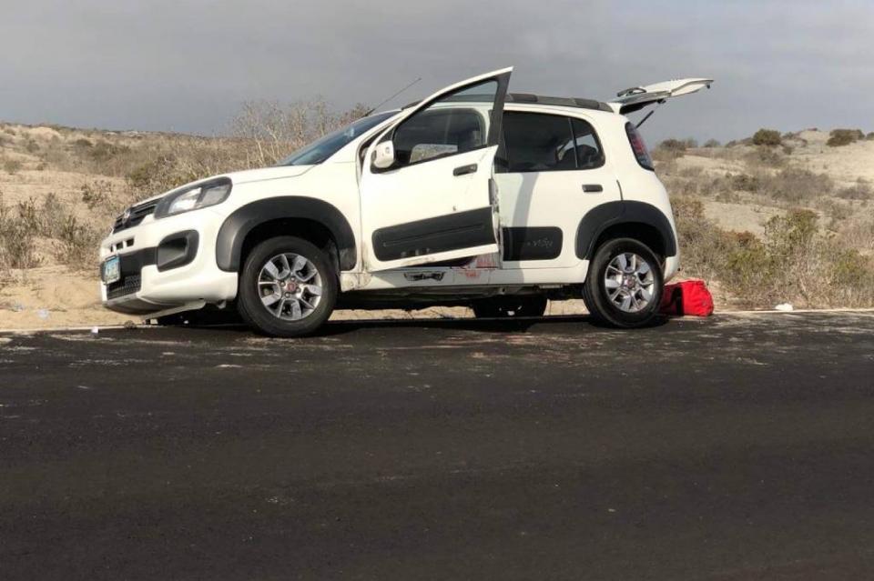Asaltan a familia en carretera Ensenada-Guerrero Negro; dejan  un muerto y un lesionado