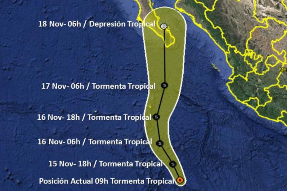 Se desarrolló tormenta tropical Raymond en el Océano Pacífico
