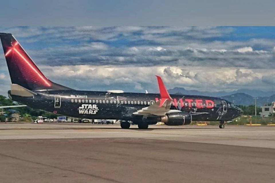 Inician sus viajes aviones de Star Wars de United Airlines