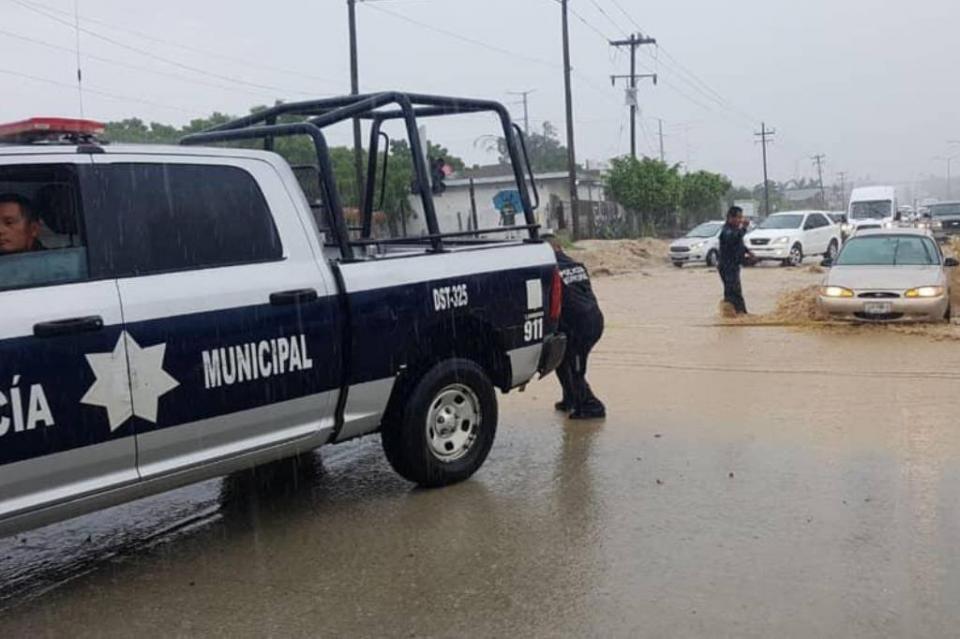 50 patrullas y 150 policías de Seguridad Pública apoyaron durante las lluvias del fin de semana