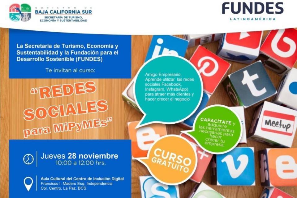 "Invita Setues a curso ""Redes Sociales para MIPYMES"""