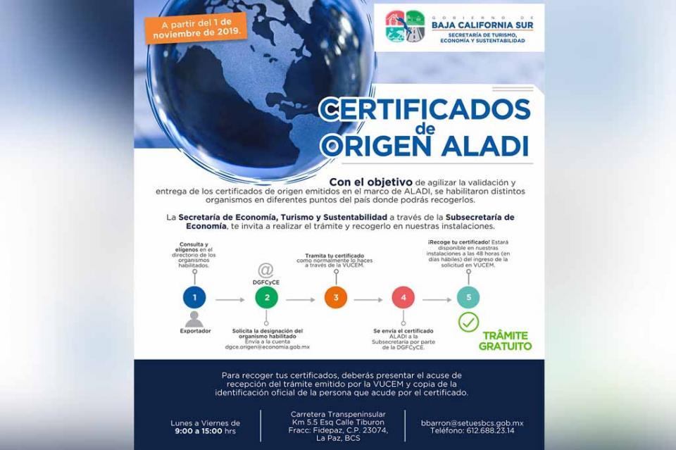 Realizará SETUES, trámite y emisión de certificados de origen