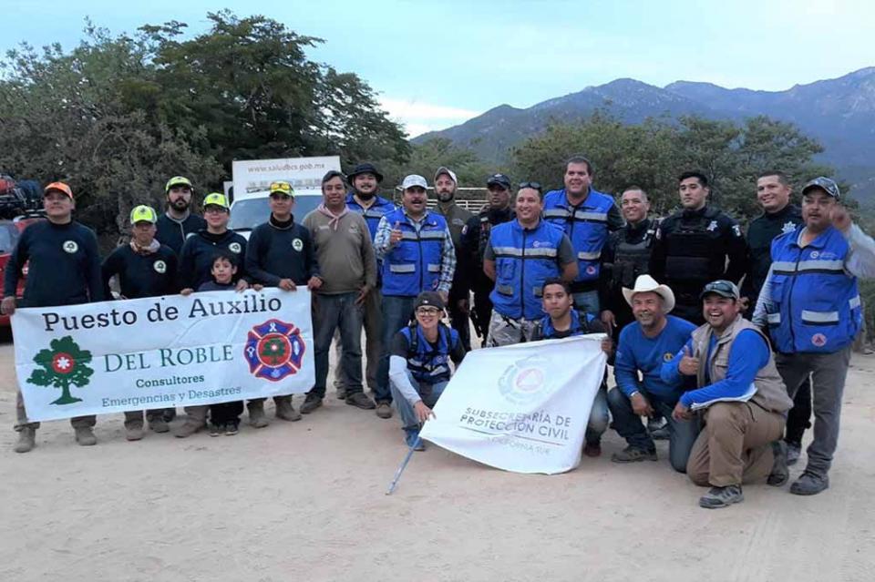 Participa Protección Civil Estatal en operativo por ascenso a la sierra de la laguna