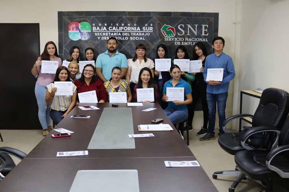 Empresas locales concluyen curso de habilidades laborales