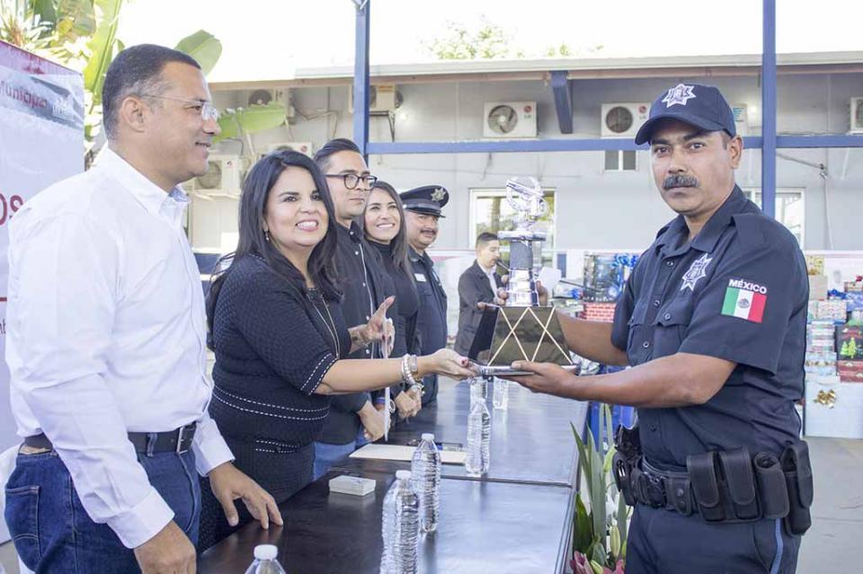 Gobierno Municipal reconoce a los mejores tiradores de Seguridad Pública