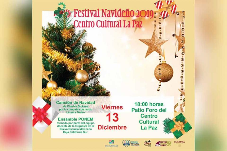 Centro Cultural La Paz realizará Festival Navideño