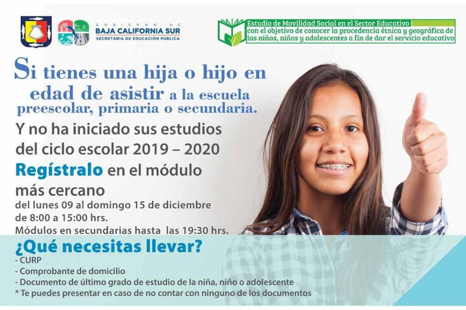 Realizarán en Los Cabos Primer Censo de Movilidad Social en el sector educativo