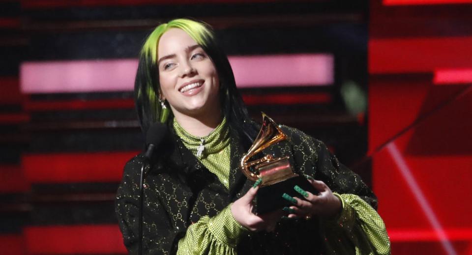 A sus 18 años, Billie Eilish arrasa en los Grammy