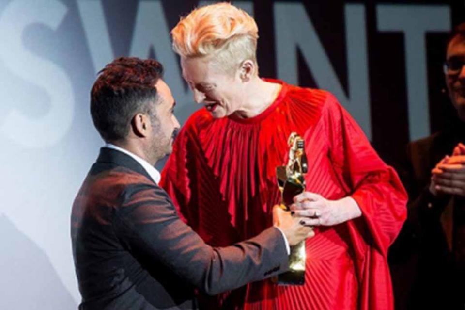 Tilda Swinton recibirá beca del British Film Institute