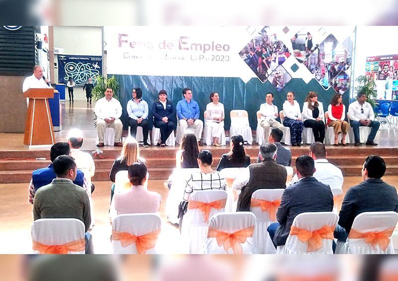 Realizan Primera Feria de Empleo Comercial y de Servicios La Paz 2020 con 27 empresas de diversos sectores