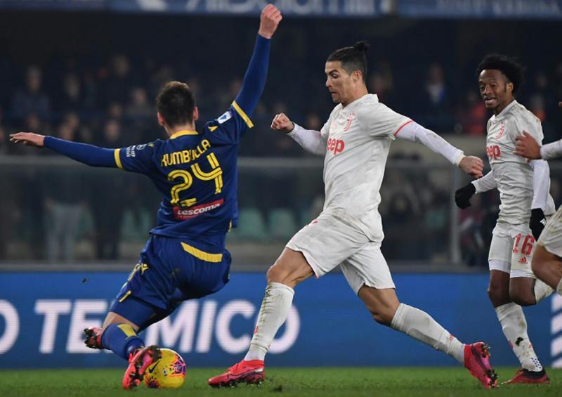 Ronaldo sigue marcando, pero Juventus pierde 2-1 ante Hellas Verona