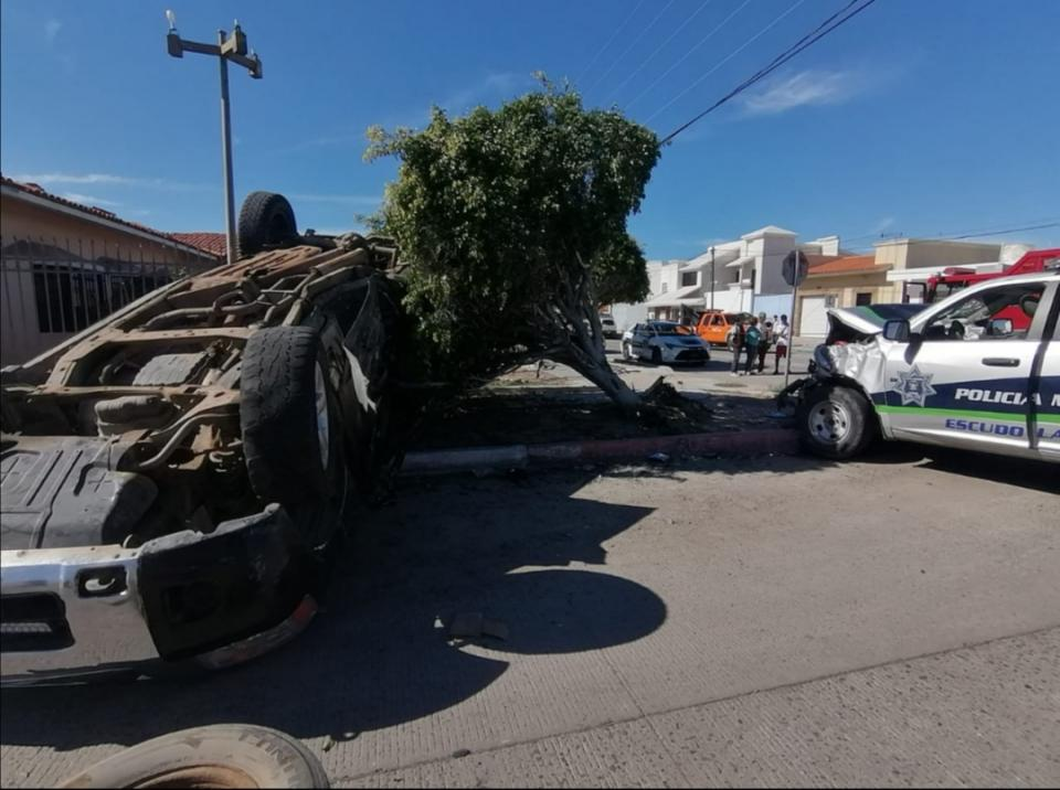 Aparatoso accidente en La Paz
