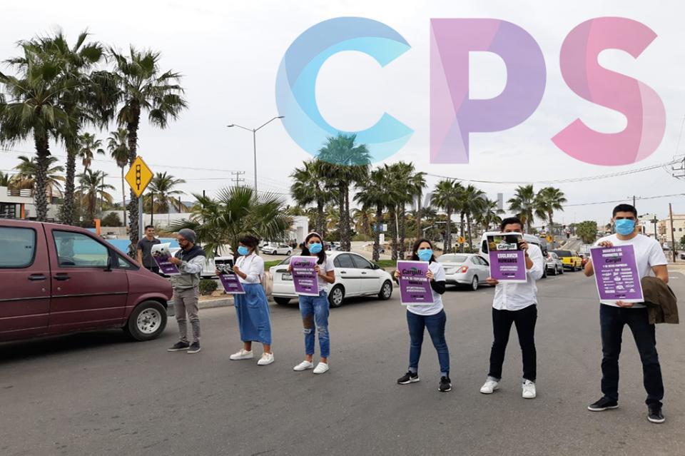 Grupo de jóvenes se manifiestan en SJC en contra del grupo Cargill