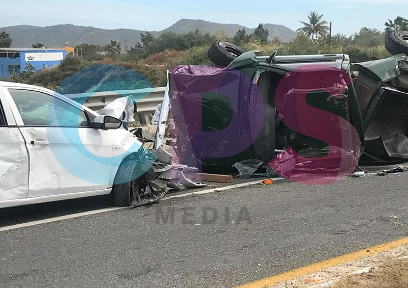 3 lesionados deja fuerte accidente automovilístico en SJC