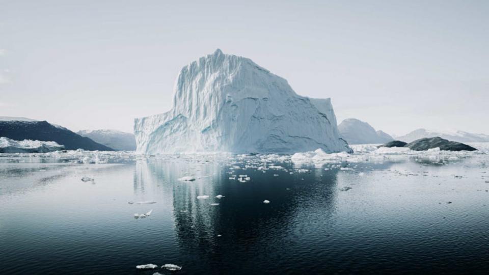 Gran desprendimiento de hielo en la Antártida
